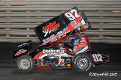 Carson McCarl had the honors of being the youngest driver to ever win a championship at Knoxville Raceway in 2011.
