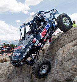 Brad Lovell takes first place in the Pro Modified We Rock Class at Cedar City, Utah, photo by Chad Jock