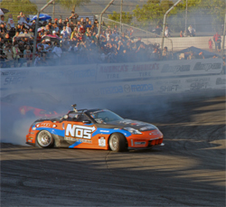 Chris Forsberg defeated Doug Van Den Bink in a round of tandem competition to take the Formula Drift Championship Title at the Toyota Speedway in Irwindale, California