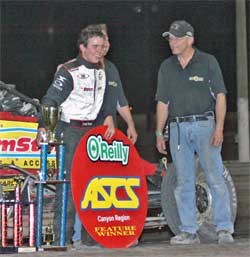 Chad Boat wins feature at Central Arizona Raceway