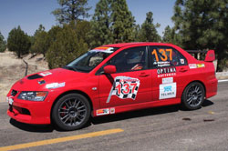 Steve Waldman says his Mitsubishi Evo IX MR is the ideal car for competing in the Chihuahua Express.