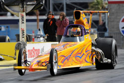 Chip Rumis' Beautiful New Spitzer Top Dragster. Photo by: Bob Johnson Photography.