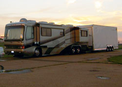 Chip Rumis recently added an air filter to his motorhome from K&N's new heavy duty line