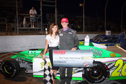 Gerchman also took home the check for winning the Trophy Dash, as well as receiving the Clean Pass Award, in round two of their 2010 open wheel racing season