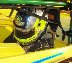 Chris Steele prepares for Late Model Hot Summer Nights Race