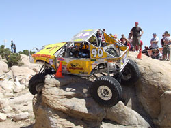 Clay Egan in a rockcrawling competition.