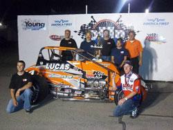 Cody Gerhardt won the USAC Western States Pavement Sprint Car Series race Stockton 99