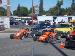 USAC Western States Pavement Sprint Car Series drivers Cody Gerhardt and Tim Skoglund currently in second and third place overall