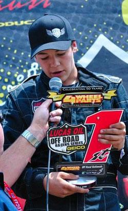 Cody Rahders' Podium at Glen Helen Raceway