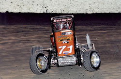 Cody Swanson chewing up the dirt in his USAC Ford Focus California Dirt Series car