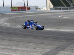 Testing his new ride the Beast Pavement Midget