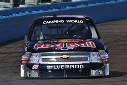 Cole Whitt in the NASCAR Camping World Truck Series. Photo by Ronda Greer Photography.