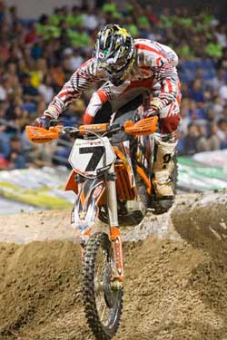 Colton Haaker recently earned a spot on the podium at the 2011 Geico Endurocross Series, round four, at Ontario California.