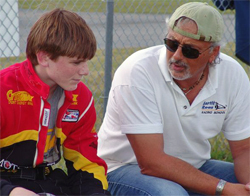 16-year-old Conor Daly with Bertil Roos Racing School President Dennis Macchio