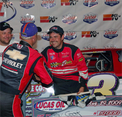 Ray Cook lead all 60 laps to score his first win the Kentucky at the Ninth Annual Bluegrass Classic, photo by Rick Schwallie