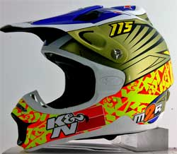 Cody Cooper wore this custom K&N Helmet at this years MX Des Nations