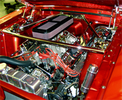 Modified K&N Sprint Car airbox is part of the GT Motorports Mustang