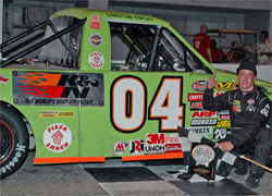 Orange Show Speedway win for K&N supported Christian Copley, photo by Ms. Mary, Mary Secord