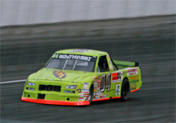 Christian Copley of MRK Motorsports drives in the NASCAR South West Tour Truck Series