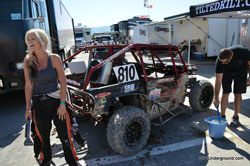 Corry Weller has many reason to smile.  She leads the LOORRS UTV points standings.