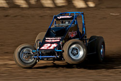 Cory Kruseman changed his scenery and changed his luck, with a dominating victory at the USAC/CRA Sprint Car feature at Watsonville Ocean Speedway.