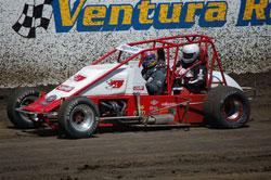 Cory Kruseman in the 2-Seater Midget