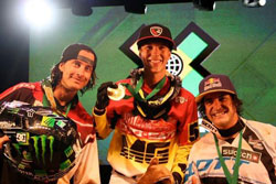 K&N's Lance Coury tapped Speed and Style gold in his first ever X Games.