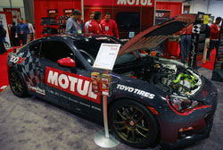 Crawford Performance's race spec 2013 Subaru BR-Z displayed at SEMA 2012