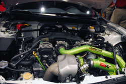 K&N provided a custom intake for the 2012 SEMA Show late model Subaru BR-Z