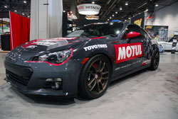 Sponors played a big role in completing this 2012 Subaru BR-Z for the 2012 SEMA Show