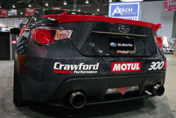 The SEMA 2012 display vehicle for Motul was a 2013 Subaru BR-Z