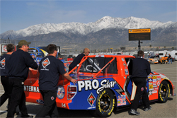 No. 14 International Truck and Engine Ford F-150 in NASCAR Camping World Truck Series at Auto Club Speedway in California