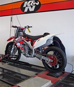 2009 Honda CRF450R at K&N headquarters in Riverside, California