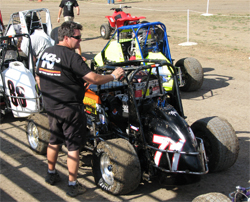 USAC Ford Focus Midgets had a double header weekend at Ocean Speedway in Watsonville, California and Ventura Raceway in Ventura, California, photo by Debbie Swanson