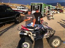 The team of Danny Prather and Dave Scott took 1st overall Pro Quad at the 2012 Best in the Desert Vegas to Reno race