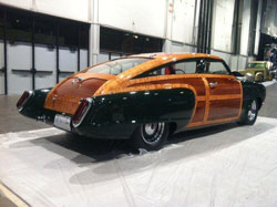 Hill's Rod and Custom also displayed a stunning 1951 Studebaker Woody Fastback at the 2013 SEMA show.