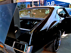 Ebony Black Paint by Emilio Oliveros on 1972 Oldsmobile Cutlass at SEMA