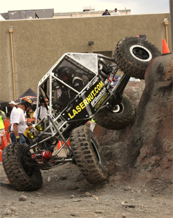 Team Waggoner buggy works through the cones to beat out the competition at the 3rd event of the WE ROCK USA Series
