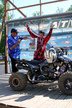 Dalton Millican wins the 450A class at Spring Creek Motocross