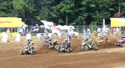Millican stole the holeshot in both motos, leaving those behind him dazed and confused.