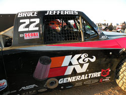 Damen Jefferies' Number 22 Trophy Truck