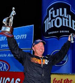 Dan Fletcher wins Stock Eliminator in NHRA Thunder Valley Nationals at Bristol Dragway.