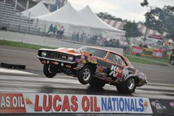 Dan Fletcher and his K&N Clad Stock Chevy Camaro