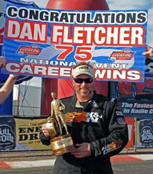 Fletcher's Super Stock win at Firebird International Raceway places him in rarified air as just the seventh driver in NHRA Drag Racing history to collect 75 NHRA Full Throttle national event victories.