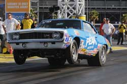Timothy Fletcher will be racing the Peak/Mickey Thompson/K&N Nova at the IHRA bracket finals in Pittsburgh