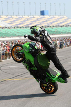 The K&N sponsored rider finished second in the 905 Speed and Style event.