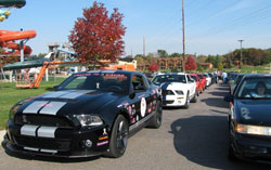 The 2010 Ford Mustang Shelby GT500 and Neve have been leading the Fall Cruise for a Cause in the Dells for the past two years.