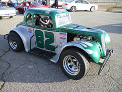 Lacey won his first Legends Cars race at Willow Spring International Raceway in 2010