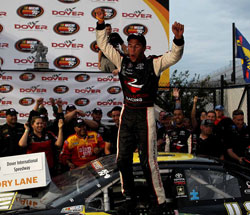 Darrell Wallace Jr. won the Dover 150 leading the last six laps of the race