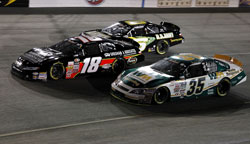 Wallace took the lead on lap 79 and was out front for the last 21 laps of the Blue Ox 100.